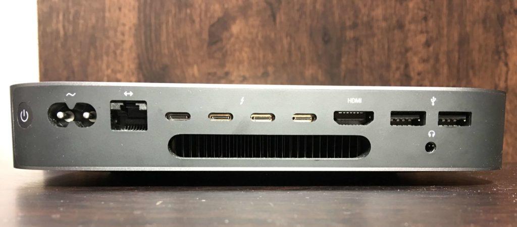 Mac mini背面