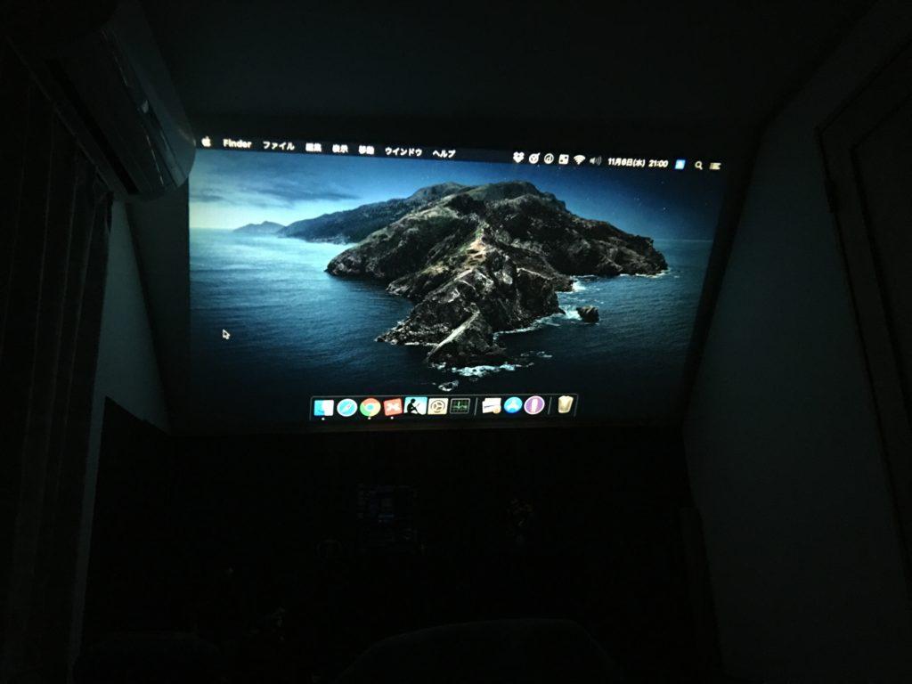 投影画面(Mac)